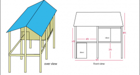Tropical Chicken Coop Design