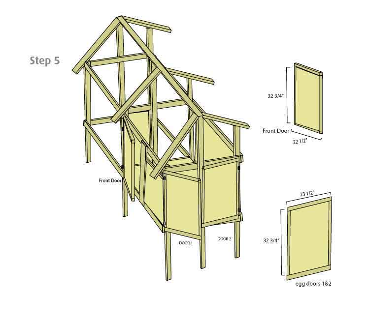 Chicken Coop Hen House Doors